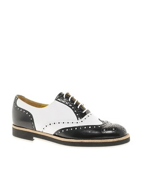 Image 1 ofT &amp; F Slack Shoemakers Flat Lace Up Brogue Shoes