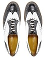 Image 3 ofT &amp; F Slack Shoemakers Flat Lace Up Brogue Shoes