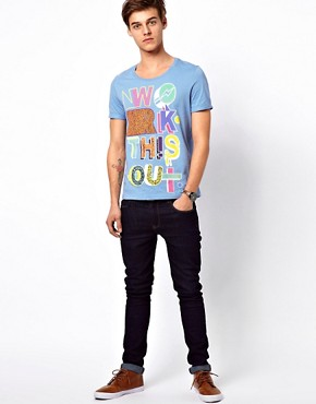 Image 4 ofASOS T-Shirt With Work This Out Print