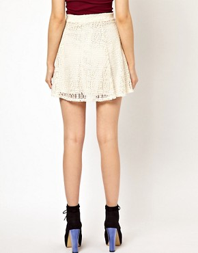 Image 2 ofRiver Island Skater Skirt In Lace