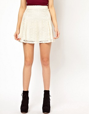 Image 4 ofRiver Island Skater Skirt In Lace