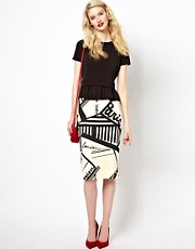 Sonia by Sonia Rykiel Graphic Print Jersey Skirt