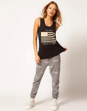 Image 1 ofZoe Karssen Bat Printed Sweat Pants