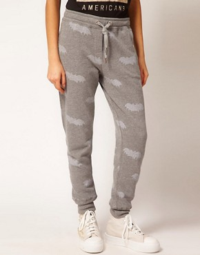 Image 4 ofZoe Karssen Bat Printed Sweat Pants