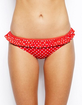 Image 1 ofASOS Mix and Match Spot Skirted Bikini Pant