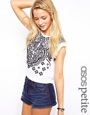 ASOS PETITE Top with Graphic Embroidery