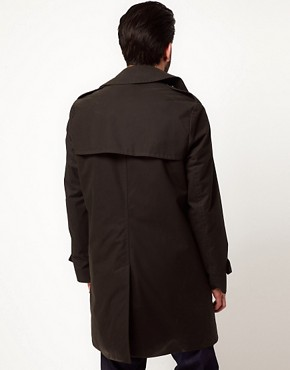 Image 2 of Gloverall Peacoat in Dry Waxed Cotton