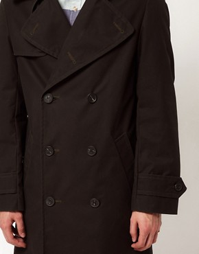 Image 3 of Gloverall Peacoat in Dry Waxed Cotton