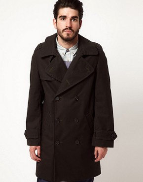 Image 1 of Gloverall Peacoat in Dry Waxed Cotton