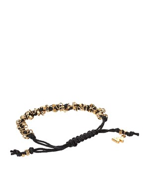 Image 2 ofWhistles Multi Loop Rana Black Cord Bracelet