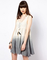 Somedays Lovin Wind Shifter Swing Dress In Dip Dye