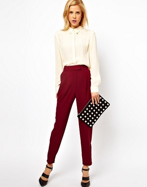 Image 1 ofASOS Trousers With Zip Hem