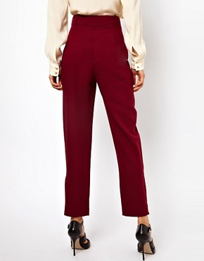 Image 2 ofASOS Trousers With Zip Hem