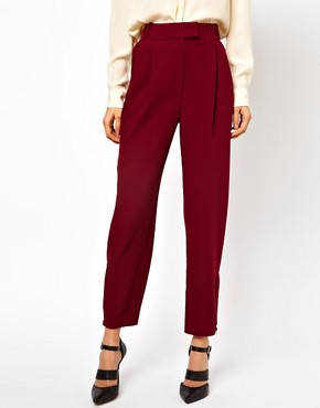 Image 4 ofASOS Trousers With Zip Hem