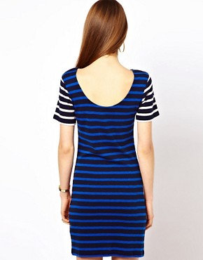 Image 2 ofFrench Connection Stripe T-Shirt Dress