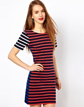 Image 1 ofFrench Connection Stripe T-Shirt Dress