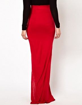 Image 2 ofImprovd Jersey Maxi Skirt with Split