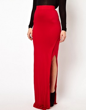 Image 4 ofImprovd Jersey Maxi Skirt with Split