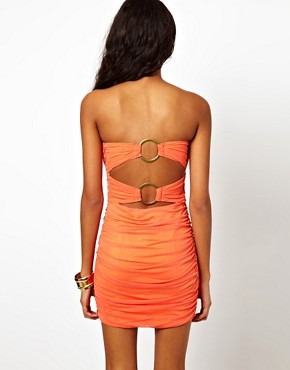 Image 2 ofRare Wrap Bandeau Dress with Ring Detail