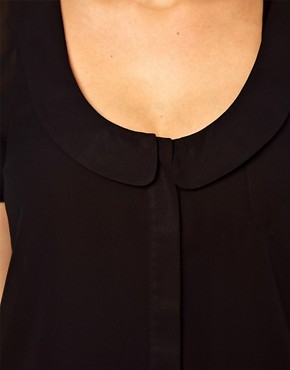 Image 3 ofASOS CURVE Blouse With Peter Pan Collar And Balloon Sleeve