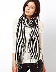 Warehouse Zebra Stripe Scarf