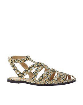 Image 1 ofASOS FALCON Gladiator Flat Sandals