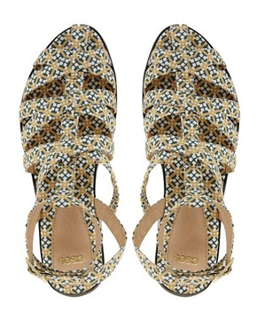 Image 2 ofASOS FALCON Gladiator Flat Sandals