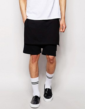 ASOS Jersey Shorts With Front And Back Panels