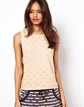 Image 1 ofASOS Sleeveless Sweatshirt with Heatseal Studs