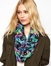 New Look Multicolour Peace Scarf