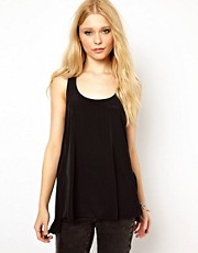 River Island Woven Mix Vest