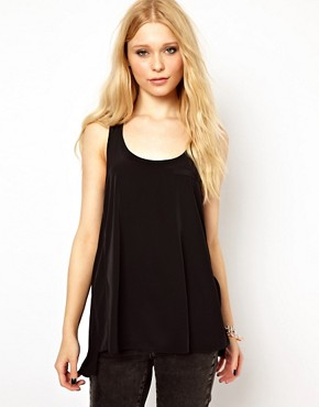 Image 1 ofRiver Island Woven Mix Vest