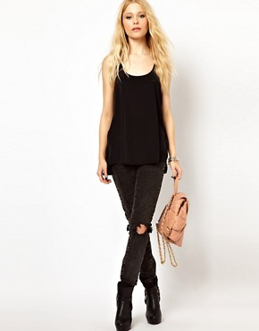 Image 4 ofRiver Island Woven Mix Vest