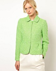 Boutique by Jaeger Peplum Jacket in Fleuro Tweed