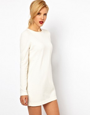 Image 1 ofMango Knit Mini Dress With Exposed Zip