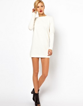 Image 4 ofMango Knit Mini Dress With Exposed Zip