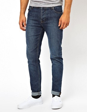 Image 1 ofASOS Skinny Jeans In Mid Wash