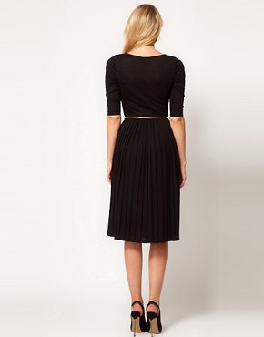 Image 2 ofASOS Midi Dress With Pleated Skirt