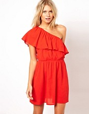 ASOS Sundress With Asymmetric Frill