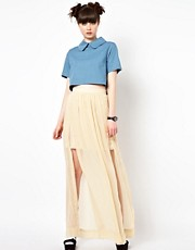 The WhitePepper Sheer Maxi Skirt