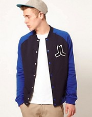 WESC Sweat Jacket Balker Raglan Baseball