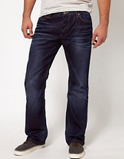 G-Star - 3301 - Jeans larghi scuri invecchiati