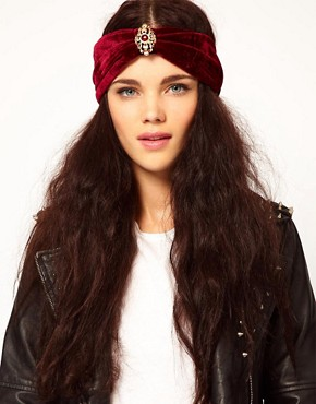 Image 1 ofRiver Island Wide Velvet Turban