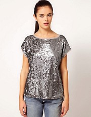 River Island Sequin T-Shirt