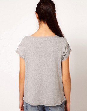 Image 2 ofRiver Island Sequin T-Shirt