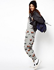 ASOS Sweatpants in Superhero Mask Print