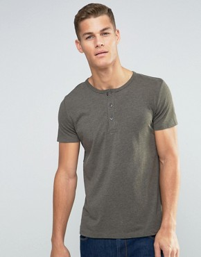 Esprit T-Shirt With Henley Neck