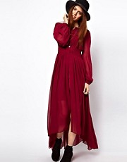 ASOS Maxi Dress With Embroidered Waist Panel