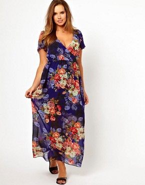 Image 4 ofASOS CURVE Maxi Dress In Vintage Floral Print