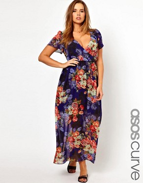 Image 1 ofASOS CURVE Maxi Dress In Vintage Floral Print